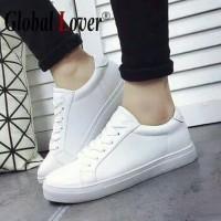 Sepatu Kets Putih Polos Pria Wanita Sepatu Sekolah Kasual Anak SMA Cwe