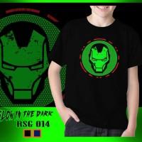 Baju Kaos Anak Superhero Iron Man Glow in the dark RSG014