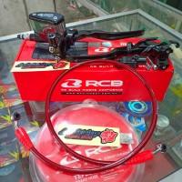 Paketan Master Rem Kanan Kiri Kopling RCB Selang Rem Depan RCB 950MM
