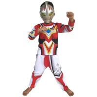 Baju Tidur Anak / Piyama Anak / Kostum Topeng Ultraman Go