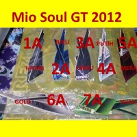 Mio Soul GT 2012 Stiker Stripping List Striping