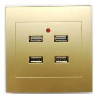 Stop Kontak Dinding 4 Port USB Wall Socket 3.5A Colokan USB isi 4