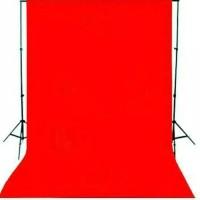 background foto warna merah ukuran 2,5X3M