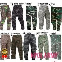 Celana Panjang Loreng Celana PDL loreng Celana Army
