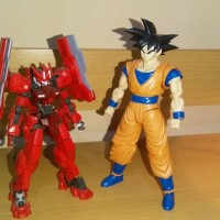 Gundam MG justice, RG Quanta, HG Astaroth Origin, Figurise Son goku