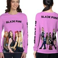 T Shirt Kaos Lengan Panjang Wanita BLACKPINK 3D Full Print Art 01