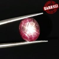 Batu Natural Ruby Star Mozambique Garansi Asli