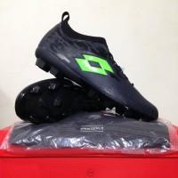 Sepatu Bola Lotto Veloce FG Blade Black Green L01010003 Original