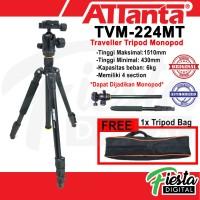 Attanta TVT-224MT Traveller Tripod Monopod For DSLR, Mirrorless, Etc.