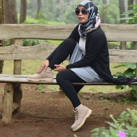 Sepatu Boots Wanita Azcost Nala Kulit suede safety