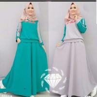 - Setelan rok fila - Baju Atasan Gamis Wanita Muslim dress pesta hijab