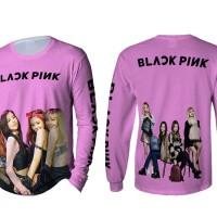 Kaos T-Shirt Lengan Panjang Pria BLACKPINK 3D FullPrint Art 01