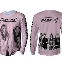 Kaos T-Shirt Lengan Panjang Pria BLACKPINK 3D FullPrint Art 03