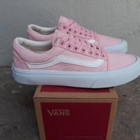 sepatu casual wanita vans oldskool pink white 36-40 IFC china