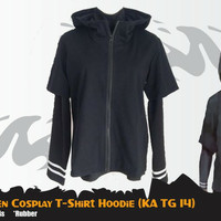 Kaos Anime Tokyo Ghoul Kaneki Ken Cosplay T-shirt Hitam KA TG 14