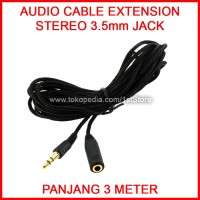 Audio Cable Extension 3Meter Extender Jack 3.5mm Kabel Perpanjangan 3M