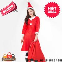 Kostum Santa Wanita Dewasa Baju Natal Murah Pesta Kostum Natal Grosir