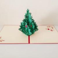 Kartu Natal 3D Pohon Natal Christmas Tree Kartu Ucapan Natal