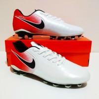 SEPATU BOLA Nike TIEMPO Legend FG MURAH BERKUALITAS (White Red)