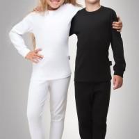 LONGJOHN ANAK / KIDS THERMAL / LONG JOHN / BAJU WINTER ANAK - size 65, Hitam