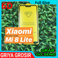 Tempered Glass 5D 6D Xiaomi Mi 8 Lite Anti Gores Full Cover Full Glue