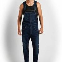 jumpsuit pria overall man baju kodok cowok menjumper jeans panjang