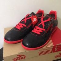 Sepatu Futsal Specs Quark IN Black Emperor Red 400720 Original BNIB