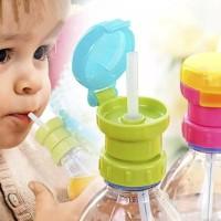 Tutup Botol Minuman Anak/Lubang Sedotan Bahan Silikon/Botol Minum Anak
