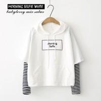 MORNING SELFIE grosir jaket sweater baju atasan fashion kekinian wanit