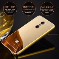 DOUBLE Mirror Bumper Aluminium with BackCase for XiaoMi RedMi Note 4