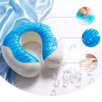 Bantal Leher Travel Kit Memory Foam Cooling Gel Dingin