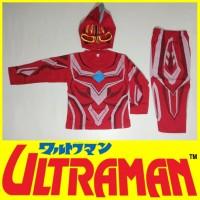 Baju Kostum Anak Karakter Superhero Ultraman Merah Setelan Halloween - 4