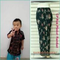 Arumi Couple batik 2in1 rok plisket panjang & atasan kemeja anak2 M-XL