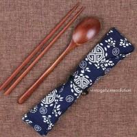 Sendok Sumpit Korea SUJEO Set Impor Mukbang Wooden Kayu Properti Foto