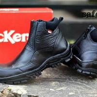 Sepatu kulit pria boot kickers safety formal slop tracking wakai nike