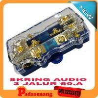 box sekring 60 ampere 2 jalur/fuse box skring audio/box skring mobil++
