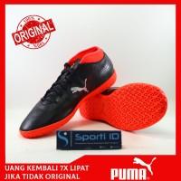 Sepatu Puma Futsal One 18.4 IT Black Silver 104558-01 Original