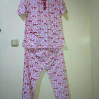 baju tidur wanita (Fila) lengan pendek celana panjang