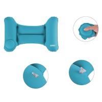 Romix Bantal Leher Mobil Travel Inflatable Car Pillow - RH35 - Blue