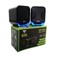 speaker gaming NYK SP-N01 speaker aktif PC Laptop NYK 3.5mm usb