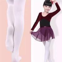 Stoking Balet Anak Ballet Stocking Dance Footed Tights Micro Putih