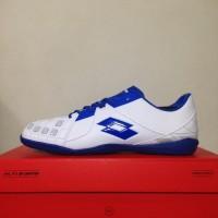 Sepatu Futsal Lotto Squadra IN White Dawn Blue L01040012 Original
