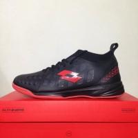 Sepatu Futsal Lotto Energia IN Black Solar Red L01040009 Original