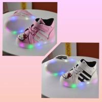 Sz 21-28 Sepatu Anak Lampu Led Import Model Boot Hello Kitty Hitam