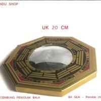 Fengshui Cermin Cembung Motif Ba Gua Tolak Bala - Big Size 20 cm
