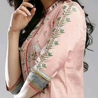 Dress laris kajal id pink kurta tunik baju muslim india