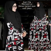 Baju Muslim Gamis Syari Fila Black Tashi.208 CB