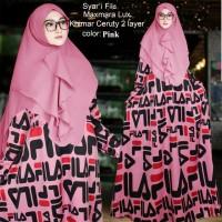 Baju Muslim Gamis Syari Fila Pink Tashi.208 CB