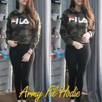 Baju Atasan Wanita Fila Sw Crop Army Tabls.66 CB