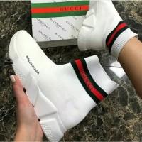 Sepatu Balenciaga speed trainer x Gucci white - Premium high quality